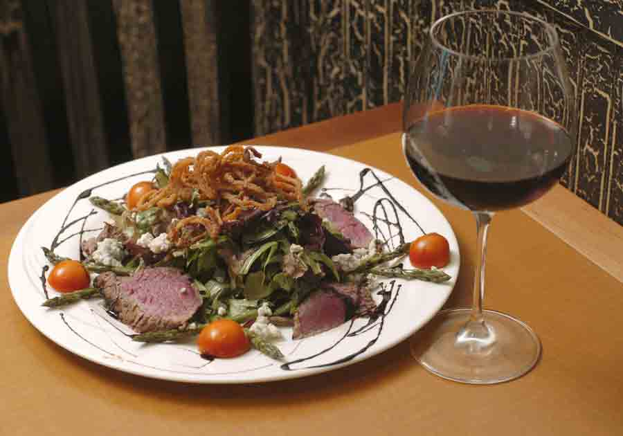 SteakSaladRedWinePicture